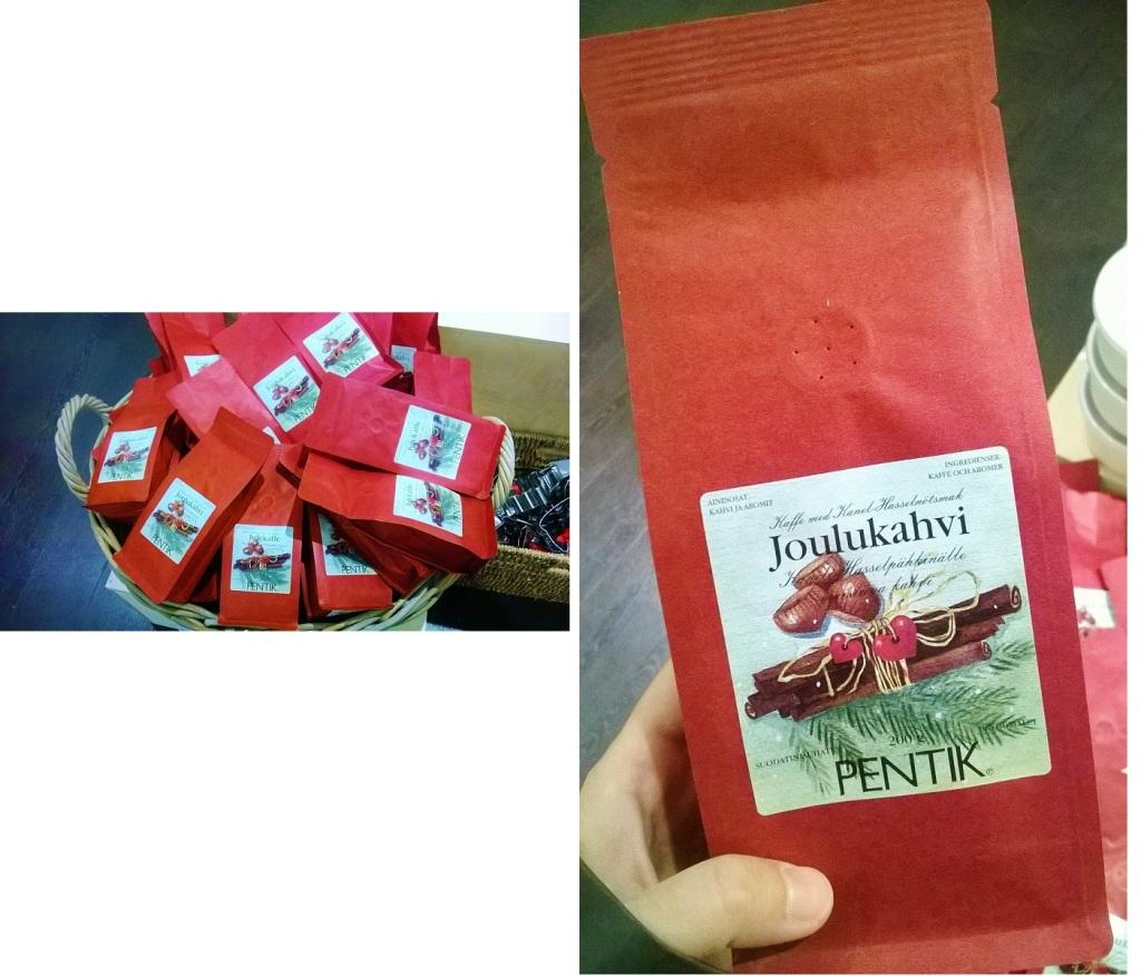 左:ペンティックの「ヨウルカハヴィ」。陶器やデザイン小物とセットにしても喜ばれる 右:香り高いアロマコーヒーで定評があるペンティックの「ヨウルカハヴィ」