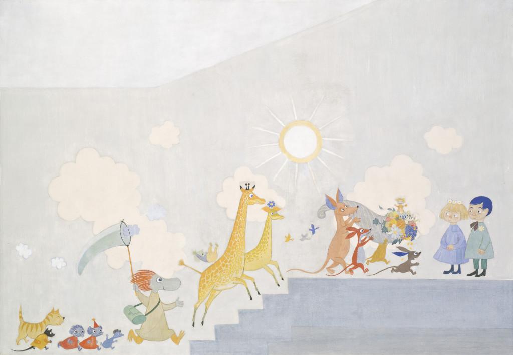 トーベ・ヤンソン作『Leikki(遊び)III』1955年 © Moomin Characters Oy Ltd ™. Kuva: HAM / Hanna Kukorelli